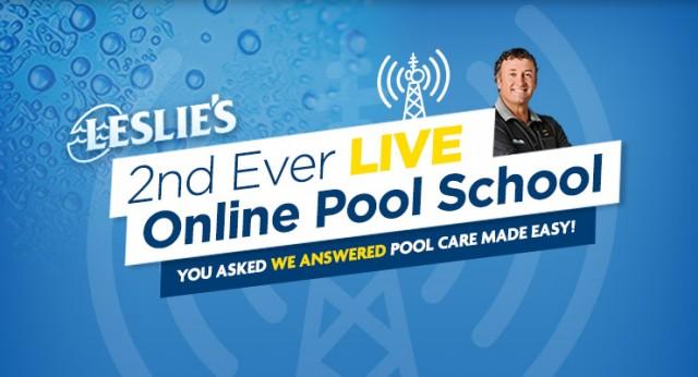 leslie's pool school