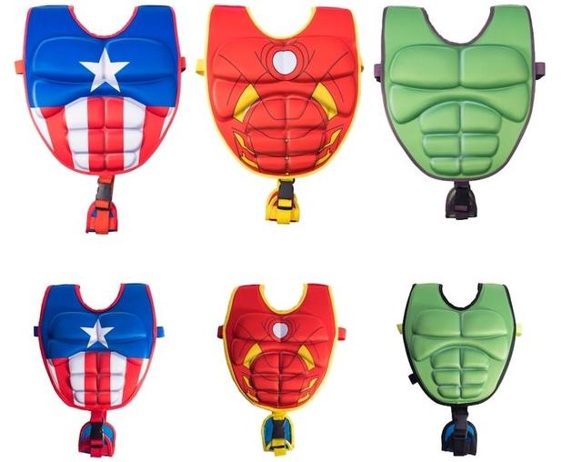 Leslie's Pool Marvel 3D Swim Vests. Character themed flotation vests for children