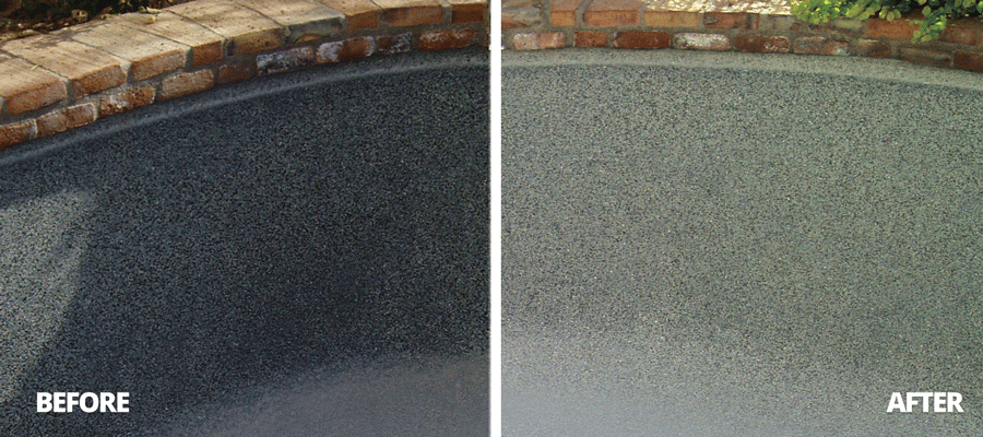 Leslie's Acid Wash Pool Before and After