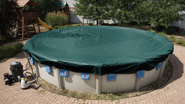 winter pool cover on above ground pool