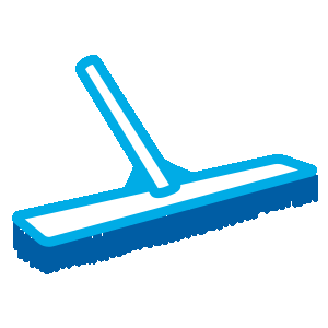 pool brushing