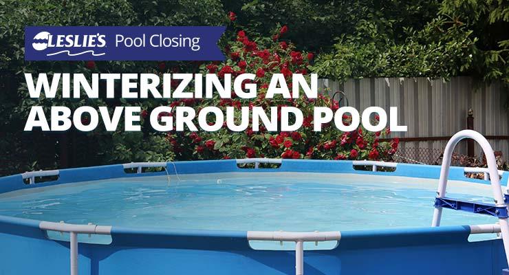 winterizing an above ground pool