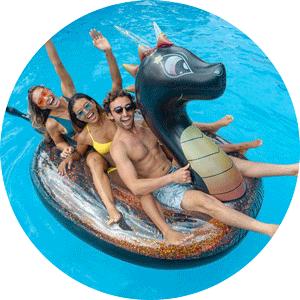 glitter dragon oversized pool float