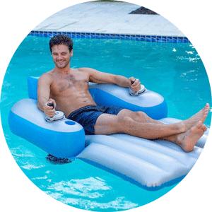 splash runner motorized pool lounge