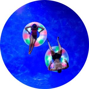 jumbo led lighted pool float