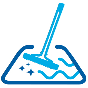 thoroughly clean the pool with a pool brush