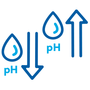 Increase or decrease pH levels