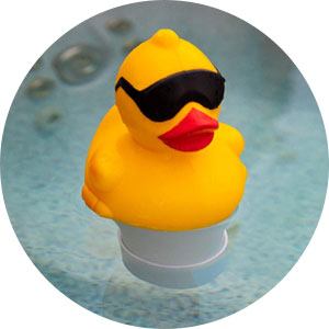 Derby duck bromine floater for hot tubs