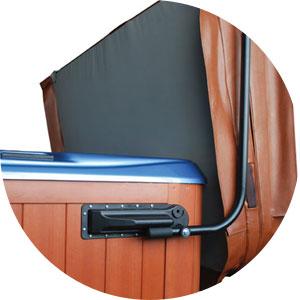 Hot tub cover lift