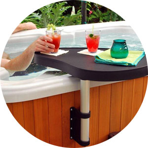 Hot tub drink tray