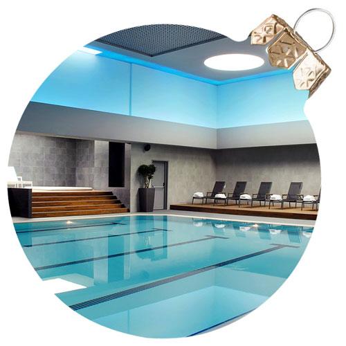 quiet indoor swimming pool