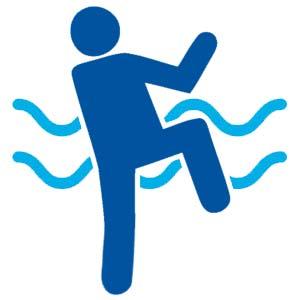 knee lift pool exercises