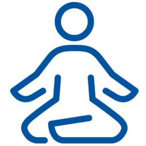 Deep breathing and meditation