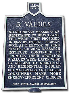 R-values sign at Penn State