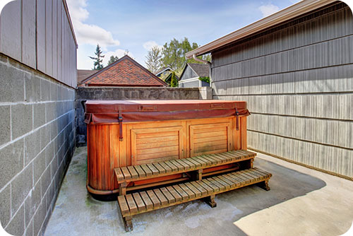 how to spruce up your hot tub area