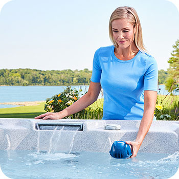 FROG @ease floating sanitizer works for any hot tub.