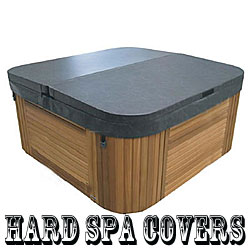 hard spa cover shown