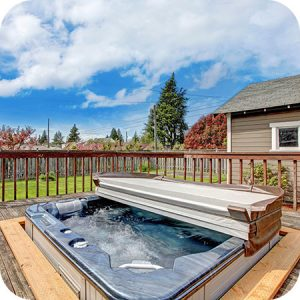 open the hot tub cover a couple times each week to allow it to dry