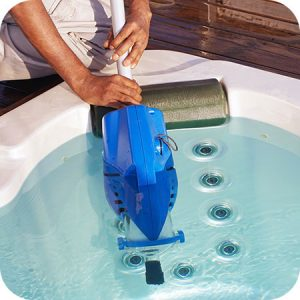 clean the hot tub regularly