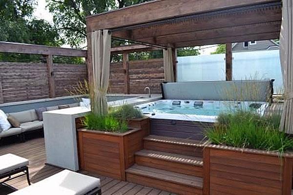 Caldera hot tub surround