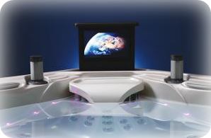 Marquis Spa with pop up TV