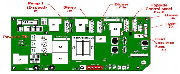 Troubleshooting Spa Circuit Boards | Beachcomber Hot Tub Wiring Diagram |  | hottubworks.com