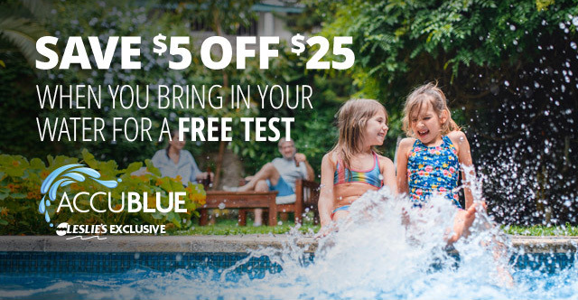 Leslie's AccuBlue Water Test Coupon