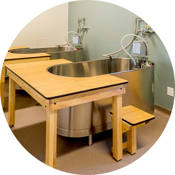 therapy tub in an athletic center