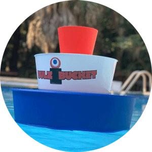 Bulzibucket floating pool and backyard game