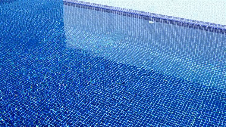 Beautiful, clear pool water