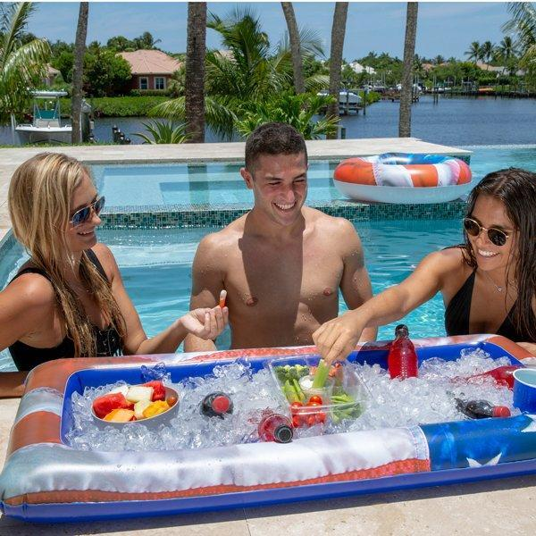 Inflatable buffet cooler