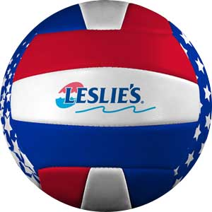 Leslie's red, white, and blue pool volleyball