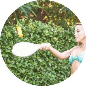 swimming pool paddleball game